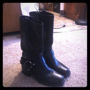 Black Frye Cowboy Boots 6.5